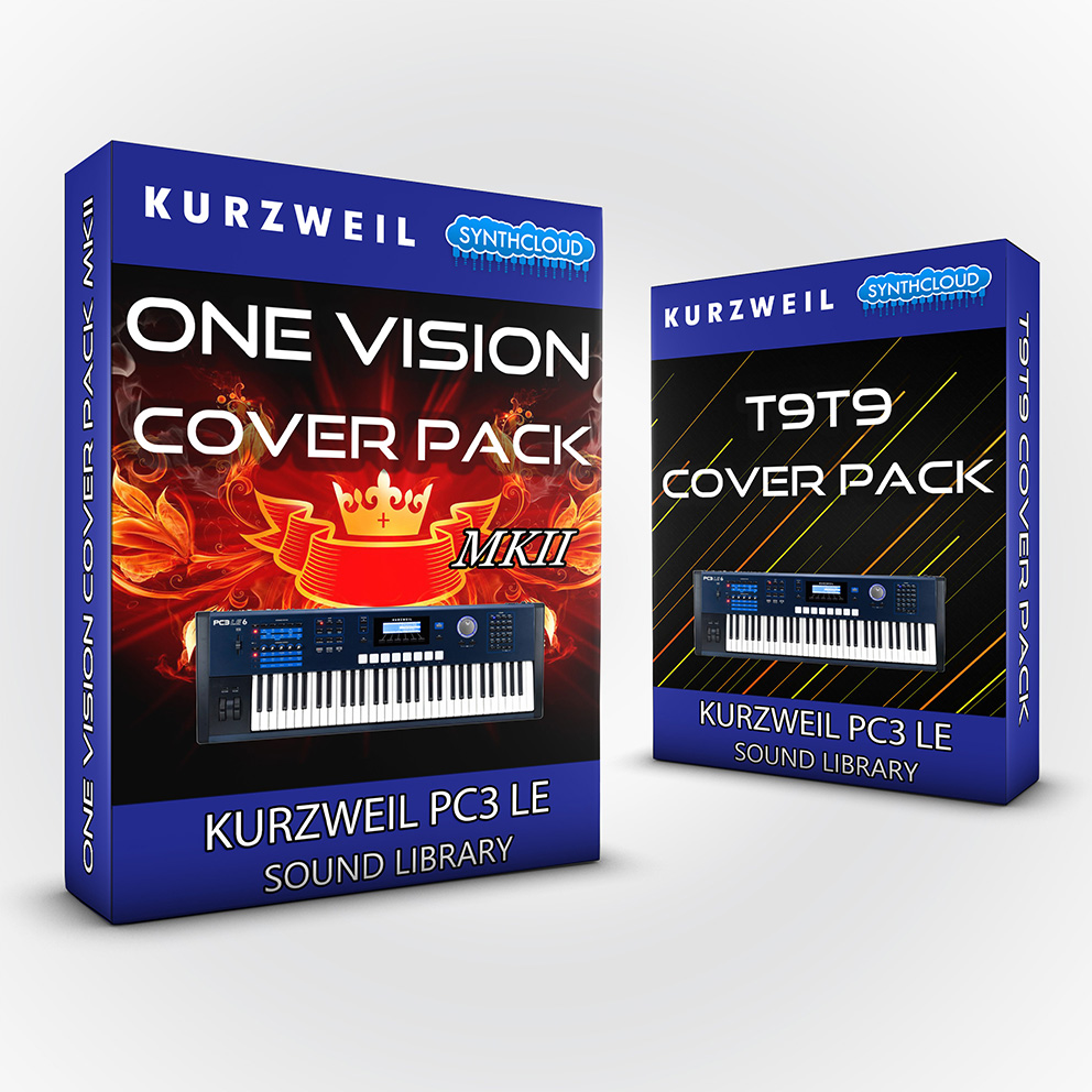 LDX138 - ( Bundle ) One Vision Cover Pack + T9t9 Cover Pack- Kurzweil PC3LE
