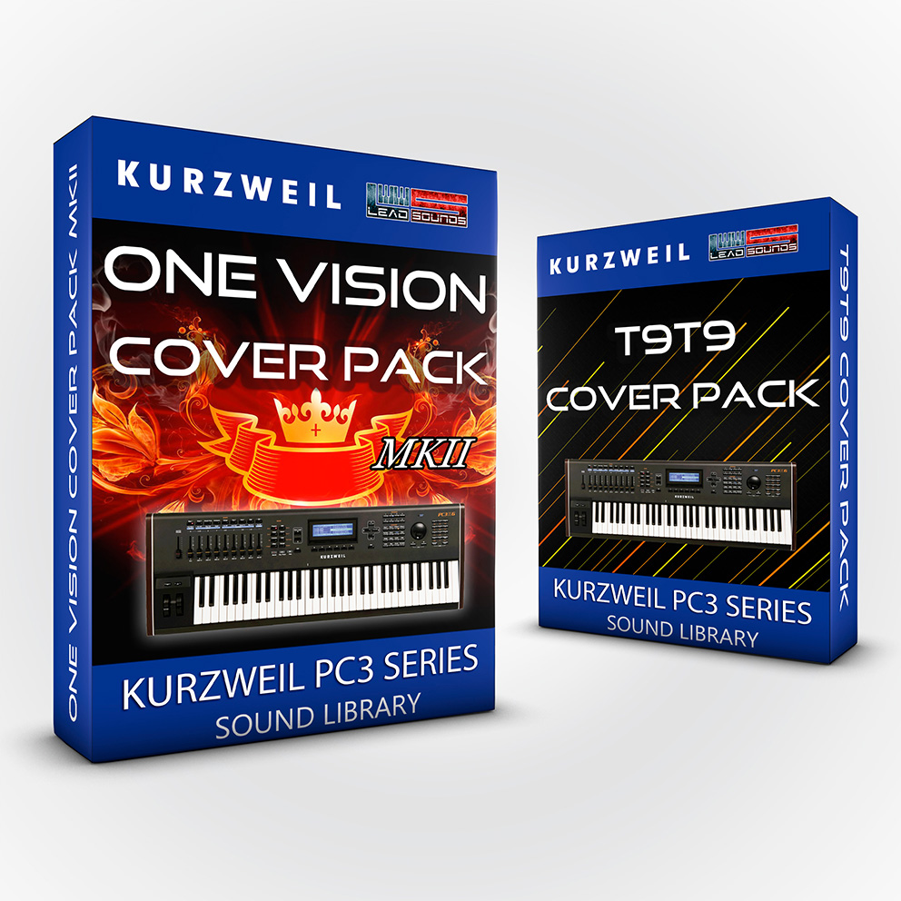 LDX138 - ( Bundle ) - One Vision Cover Pack + T9t9 Cover Pack - Kurzweil Pc3 series