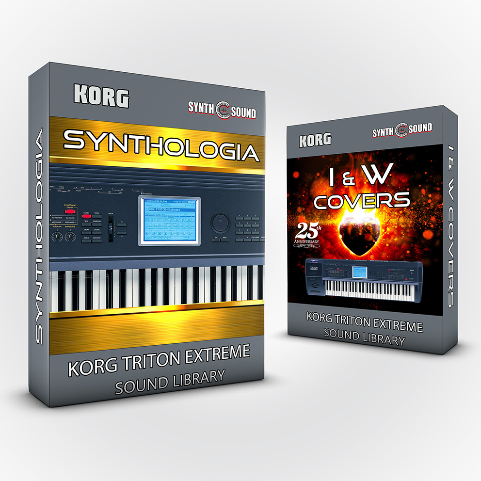 SSX135 - ( Bundle ) Synthologia V1 + I&W Covers - Korg Triton Series