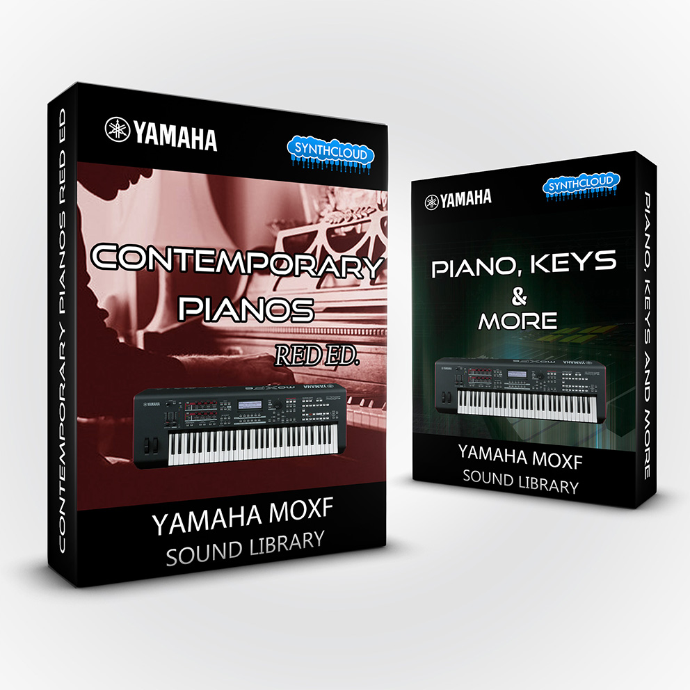 SCL213  - ( Bundle ) Contemporary Pianos Red Ed. + Piano, keys & more - Yamaha MOXF (512 mb RAM)