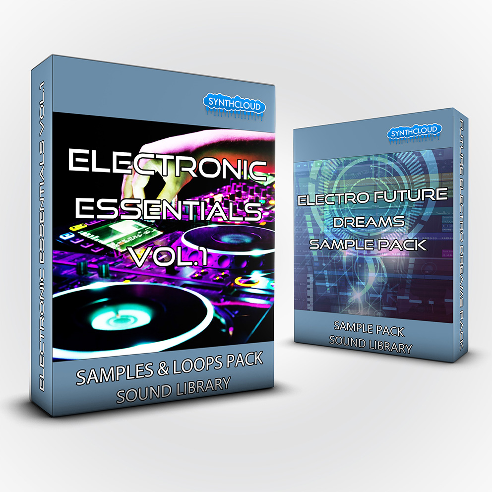 SCL227 - ( Bundle ) - Electronic Essentials Vol.1 Samples & Loops Pack + Electro Future Dreams Sample Pack