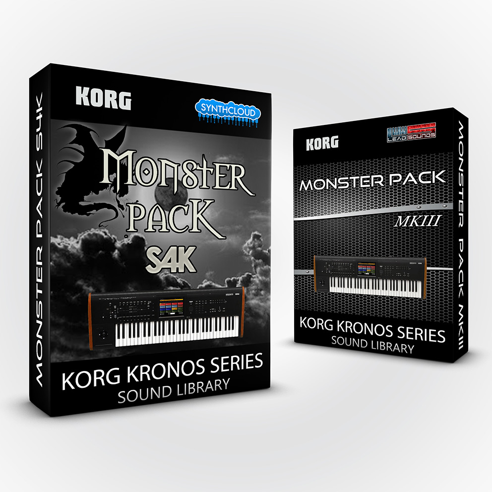 SCL207 - ( Bundle ) Monster Pack S4K + Monster Pack MKIII - Korg Kronos Series