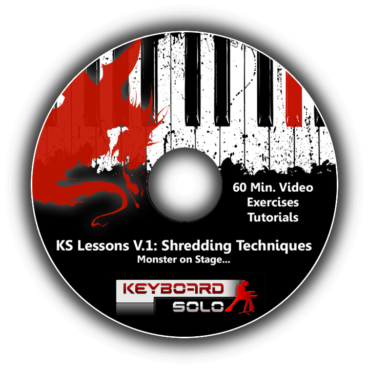 ( Preorder Available 49 S.C. ) Keyboard Solo Lessons V1 - Shredding Techniques