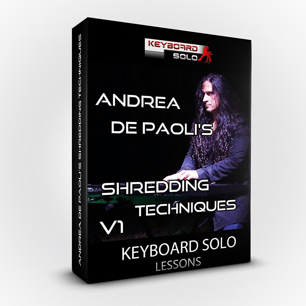 Keyboard Solo Lessons V1 - Shredding Techniques