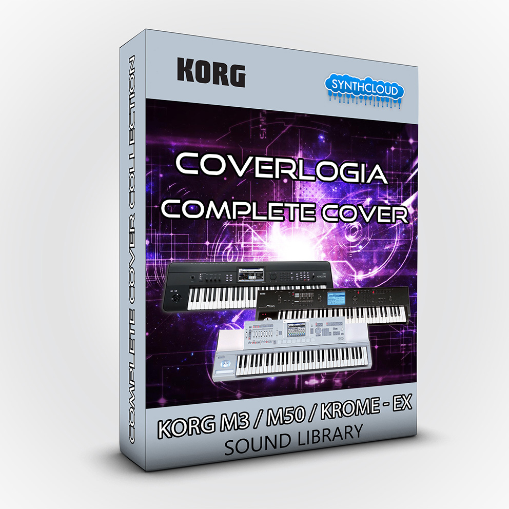 SCL22 - CoverLogia - Complete Cover Collection ( Pink Floyd + Queen + Toto + 80's Cover ) - Korg M3 / M50 / Krome - Ex