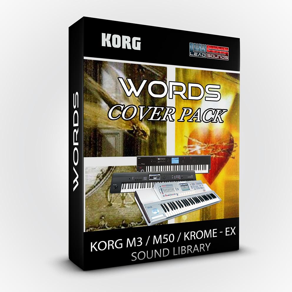 LDX92 - Words Cover Pack - Korg M3 / M50 / Krome / Krome Ex