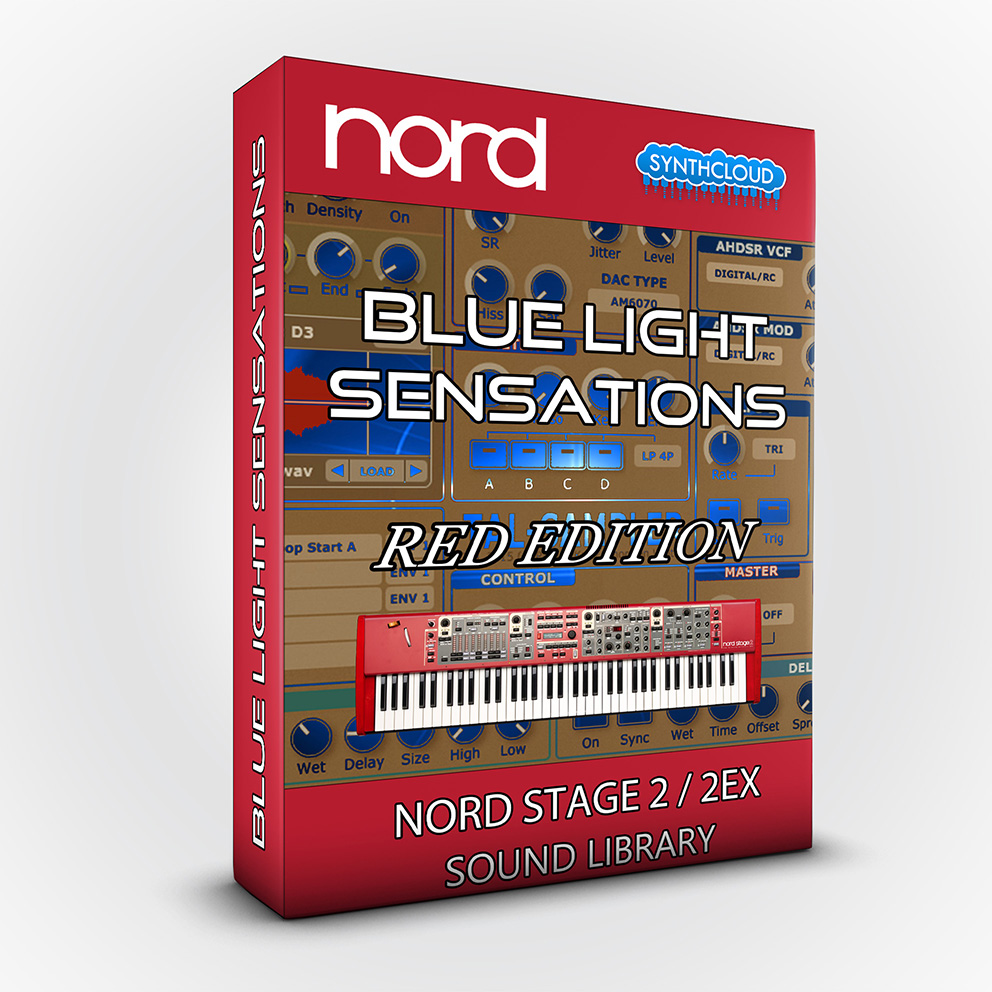 SCL114 - Blue Light Sensations (Red Edition) - Nord Stage 2 / 2 EX
