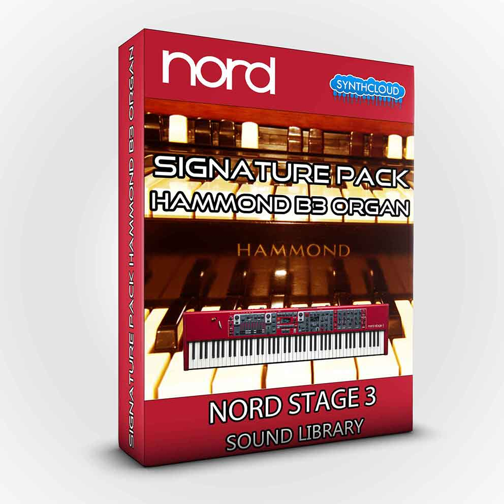 SCL58 - Signature Pack Hammond B3 Organ - Nord Stage 3