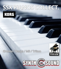 ( Preview ) SSX PIANO COLLECT. on Korg Oasys Kronos M3 TRITON ( Synthologia V1 )